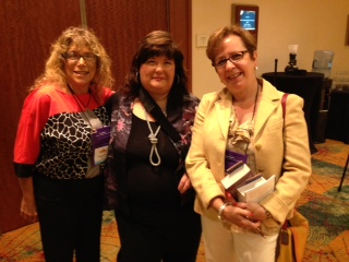 Author Karen Rose with Mikkie Cober and me.