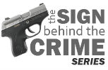 The Sign Behind the Crime Logo