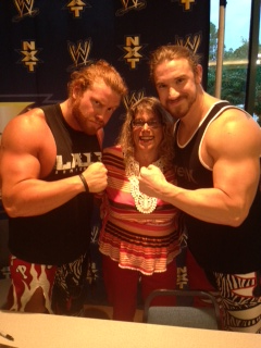 Hangin' with NXT tag team guys isn't so bad either. Buddy and Blake.