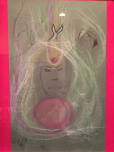 On the wall behind my desk is this painting of my aura done by a psychic in 1994. As soon as she saw me, she noted my right brain psychic intuition. She also saw and drew, my Pleiadian work done through meditations. Healers, doctors, teachers come from the Pleiades.And I do healings channeling the energy.